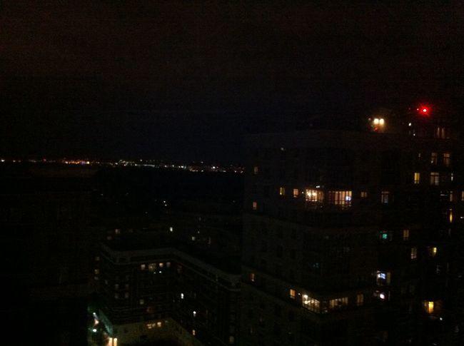 From My Window Night Lights City Horizon