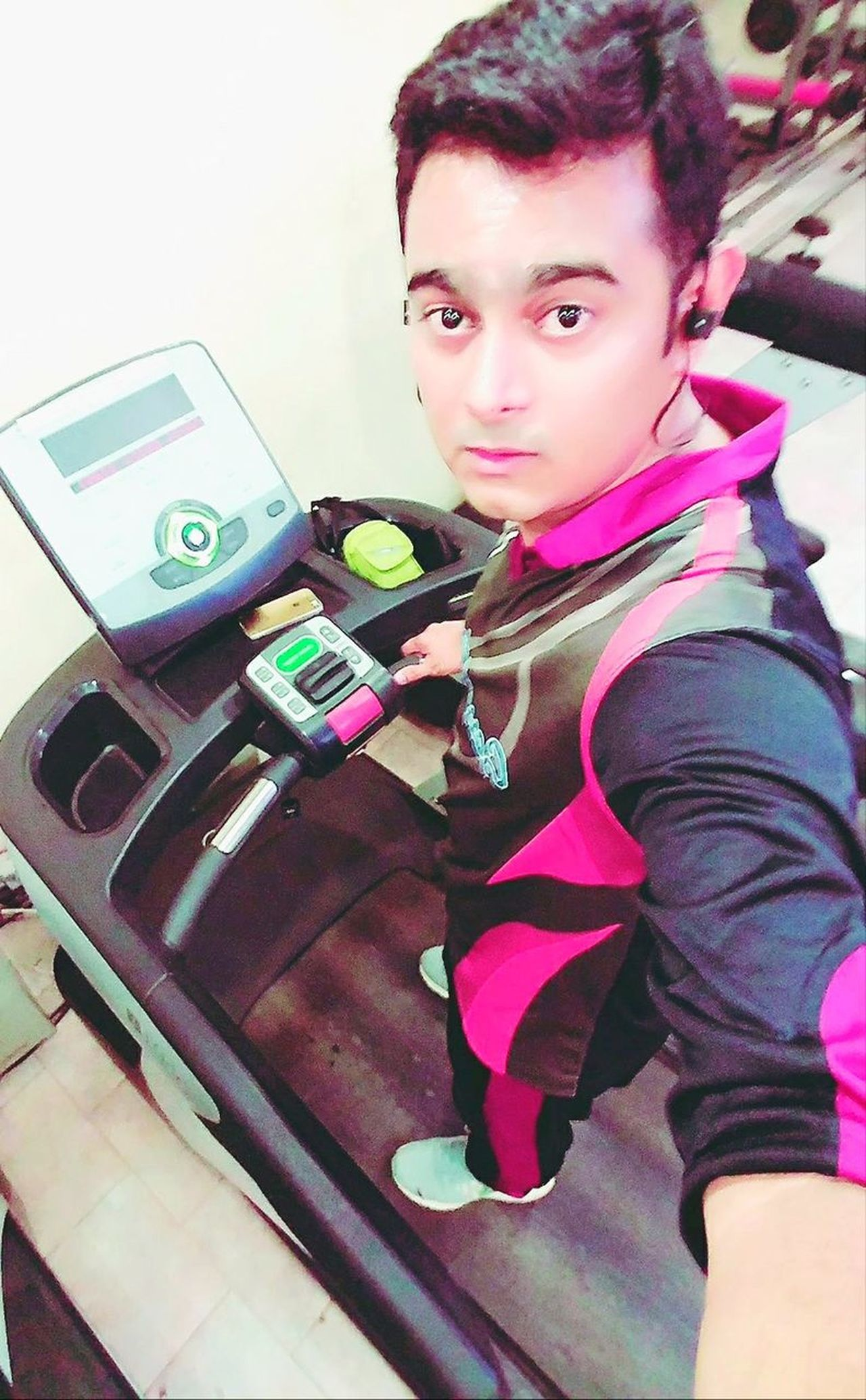 One Person Young Adult Glamour Adult Leisure Activity Today's Hot Look Me Hello World HERO Actor Happiness Lifestyles That's Me Hi! Man Check This Out Fitnesslifestyle  Treadmill Excercise Burning Calories Rathod Karachi Pakistan