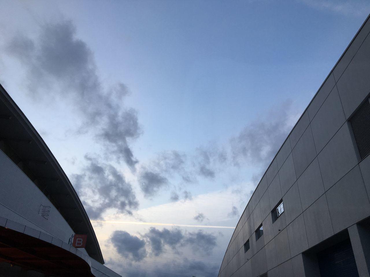 今日から始まる、🌹とうほく蘭展&バラとガーデンフェスタ2017🌺でお仕事。24日と26日は居ませーん。 Cloud - Sky Aerial Cloud Sky Low Angle View Built Structure No People Architecture Building Exterior Evening Sky 夢メッセみやぎ Sendai Miyagi Nofilter Noedit Contrail