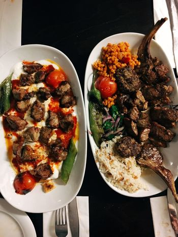 Rice - Food Staple Tomato Grilled Meat Turkish Food Food And Drink Food Ready-to-eat Freshness Serving Size Still Life Indoors  Healthy Eating No People Meat Vegetable