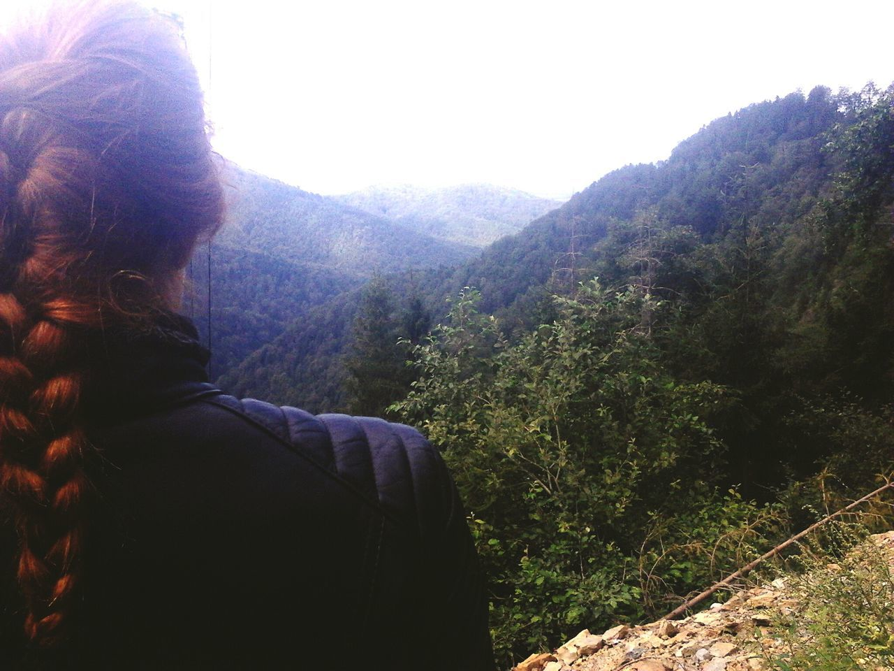 One Person Rear View Tree Beauty In Nature Mountain Landscape Nature People Outdoors Redhead Trip Photos Motorcyclepeople Motorcycletrip