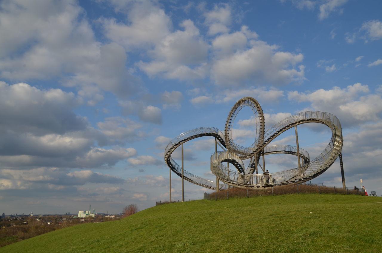 Athmosphere Cloud Cloud - Sky Cloudy Culture Duisburg Halden Landmark Landmarks Outdoors Ruhrgebiet Ruhrpott Sculpture Sky Sky And Clouds Sight Ruhrtourismus Built Structure Tiger & Turtle Tiger And Turtle Tigerandturtle Architecture