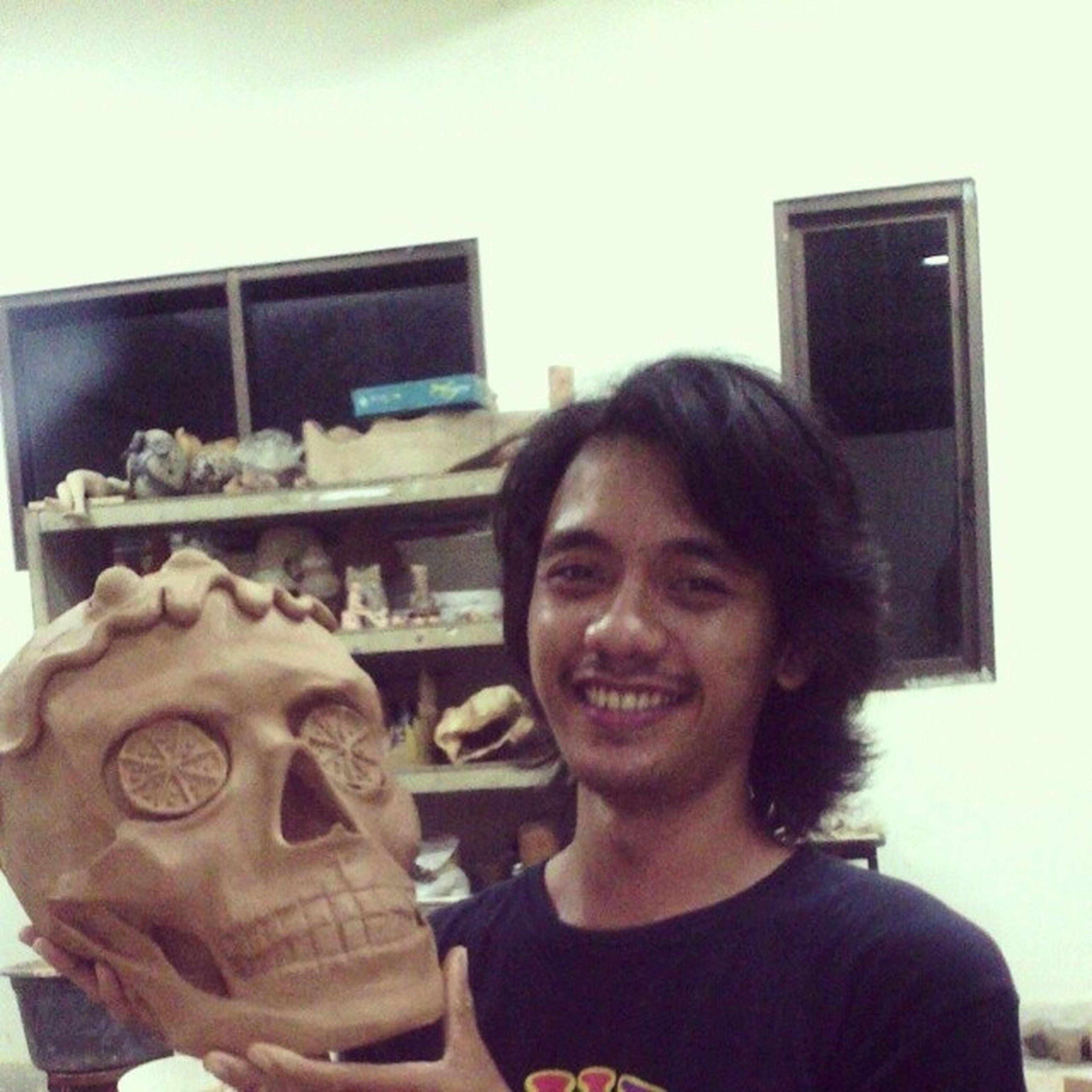 Skull Tengkorak Mahaputravito Holiday clay tanahliat stoneware ceramic keramik keramos art seni ars product produk yogyakarta galihjsnh