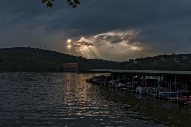 Sun And Clouds Clouds And Sky Sun Clouds Austin Austin Texas Sunset Tom Miller Dam