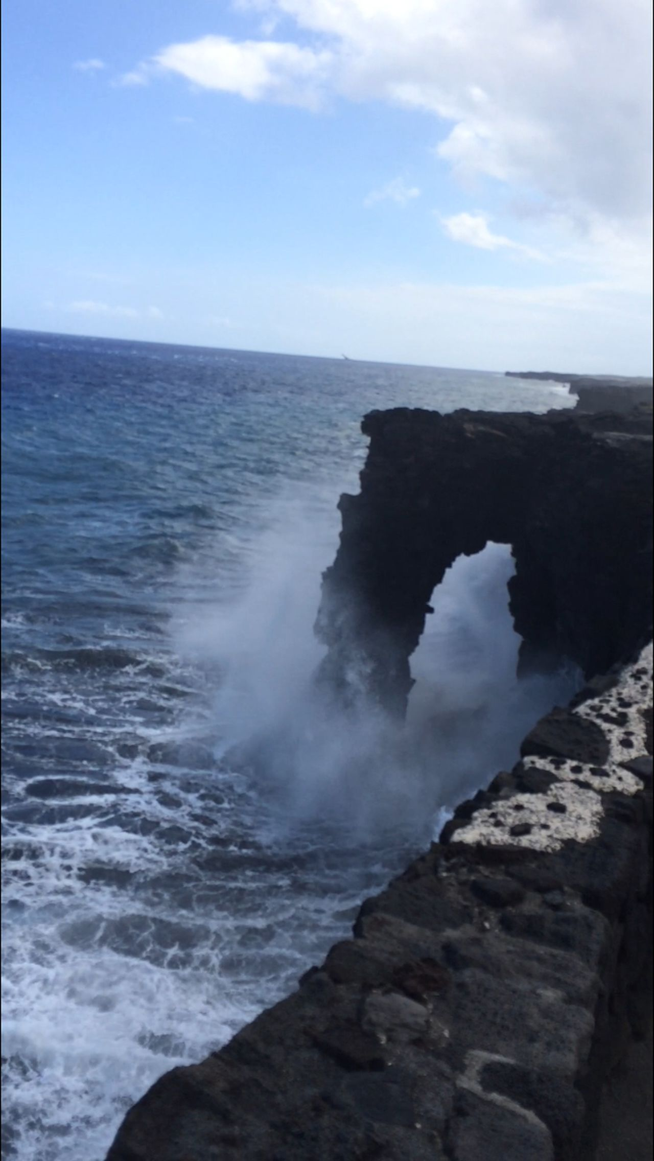 Big Island Volcano National Park Arch Nature May 2015
