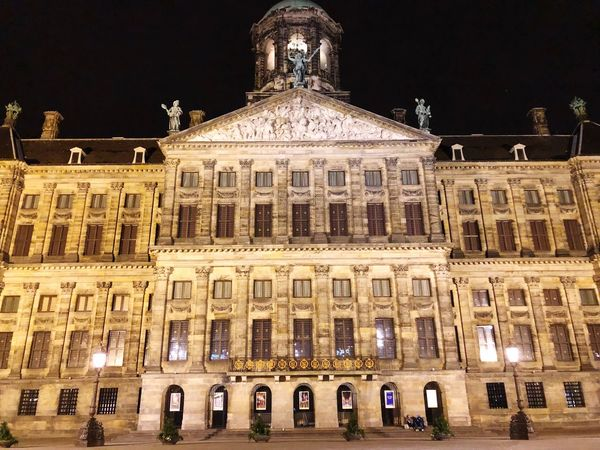 Architecture Building Exterior Night History Built Structure Low Angle View Illuminated Travel Destinations Façade Outdoors Architectural Column No People Sky