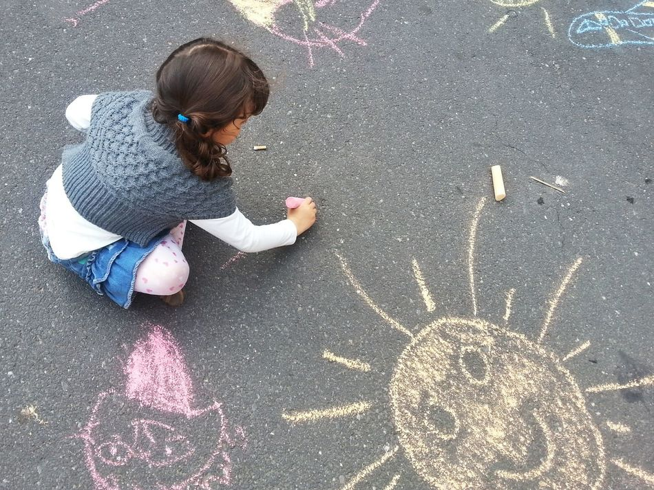 Beautiful stock photos of floor, Caucasian, Chalk, Childhood, Concentration