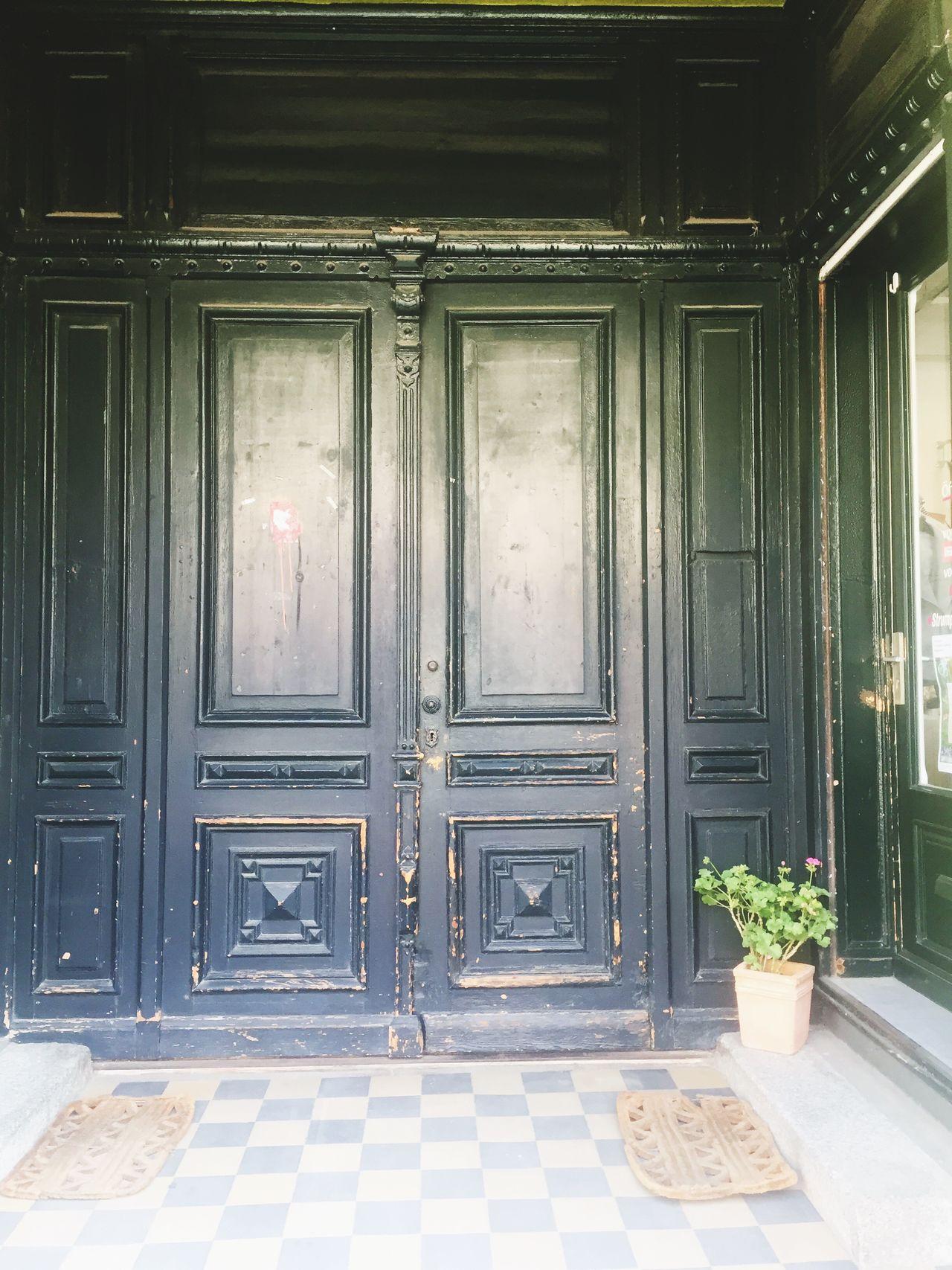 Oldentry Wooddoor Shopentry Vintage Shabby Bluedoor Oldtiles Doormats Checked Tiles