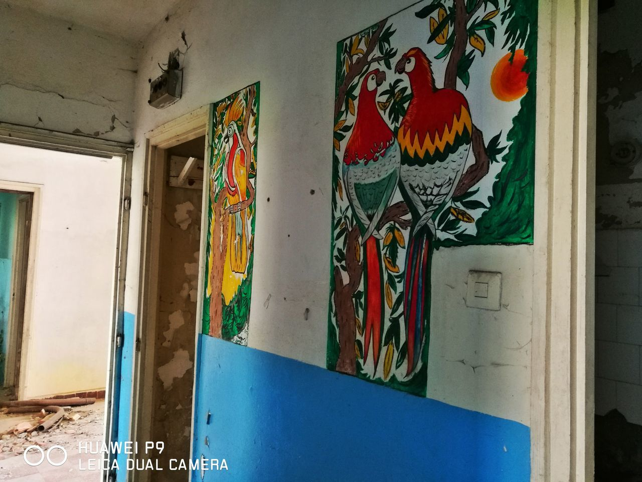 art and craft, multi colored, graffiti, built structure, no people, architecture, indoors, day