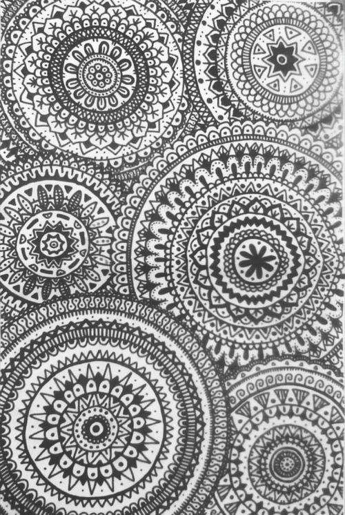 Black And White. Colorful Creativity Mandalas Drawing. ArtWork Mis Dibujos Art Deco Decorated Decoration Cosasquenoshacensentirbien Cosasquemegustan Cosas Mias Art Deco Style Disfrutando De La Vida Déco