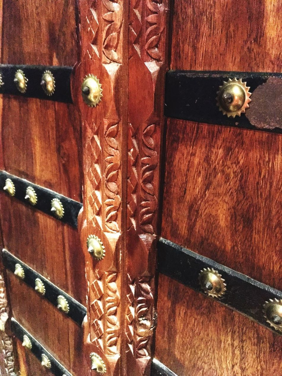 Close Up Door Wood - Material No People Brown Doorknob Carving - Craft Product Carving Wooden Rajasthan Indiandairies Antique The City Light