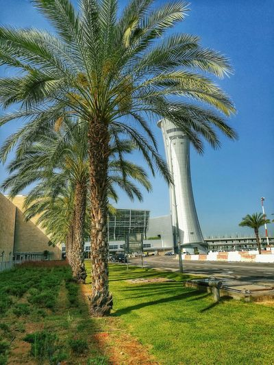 Tlv HDR Airport Clouds And Sky Tower Traffic Control