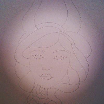In progress Drawing Drawingtime Malen Zeichnen lovetodoit oldschool tattoosketch pixiistyle pixiisketch artbypixii pixiiart