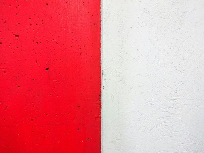 Wall Spring Tradition Martisor Red Wall Rough Texture Industrial Textures And Surfaces EyeEm Gallery From My Point Of View Showcase March Monochrome Minimalobsession Minimalism Minimal Learn & Shoot: Simplicity Half White And Red Symmetry Getting Inspired Getting Creative Symmetrical Deceptively Simple