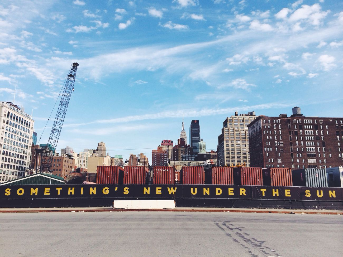 New York Skyline City Walking Around