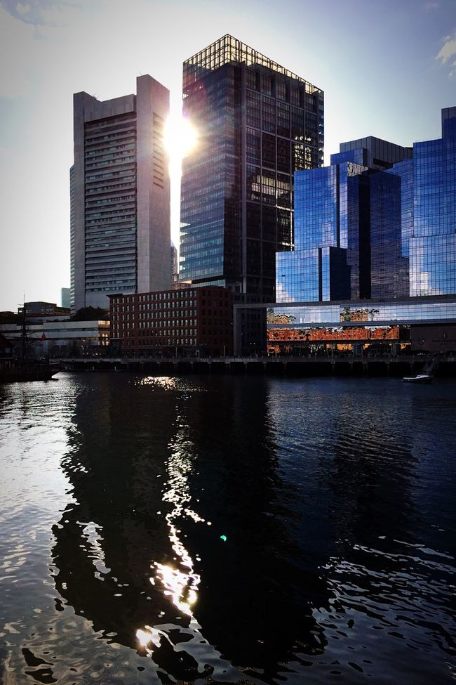 Reflection Reflections In The Water Water Reflections Water Water_collection Sun Sunset_collection Sunset Silhouettes City Cityscapes City Life Cityscape Enjoying The Sun Enjoying Life Enjoying The View IPhoneography Landscape Silhouette Hanging Out Walking Around Building Taking Photos Beautiful Outdoors Harbour