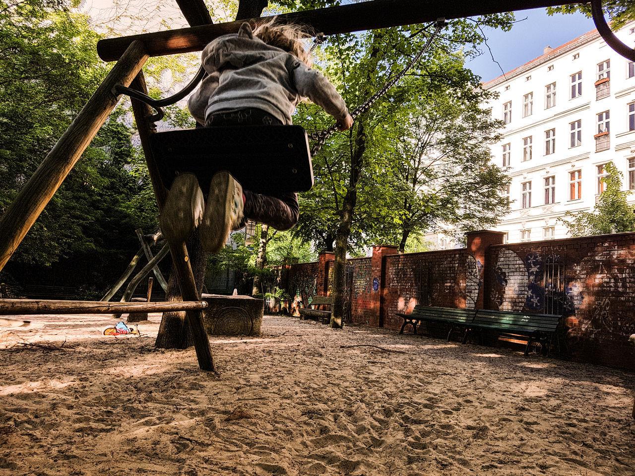 Outdoors Tree Sunlight Swing Playground Berlin Life Wall Kid Kids Playground
