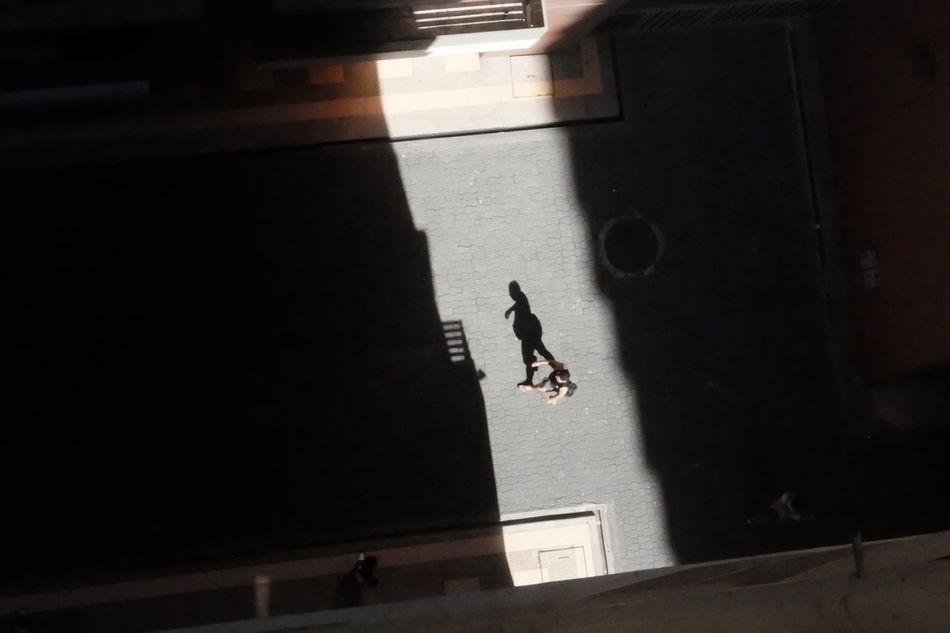 Pass by Shadow Shadows & Lights Lightplay Man Passerby From My Point Of View From Top Flatlay The City Light