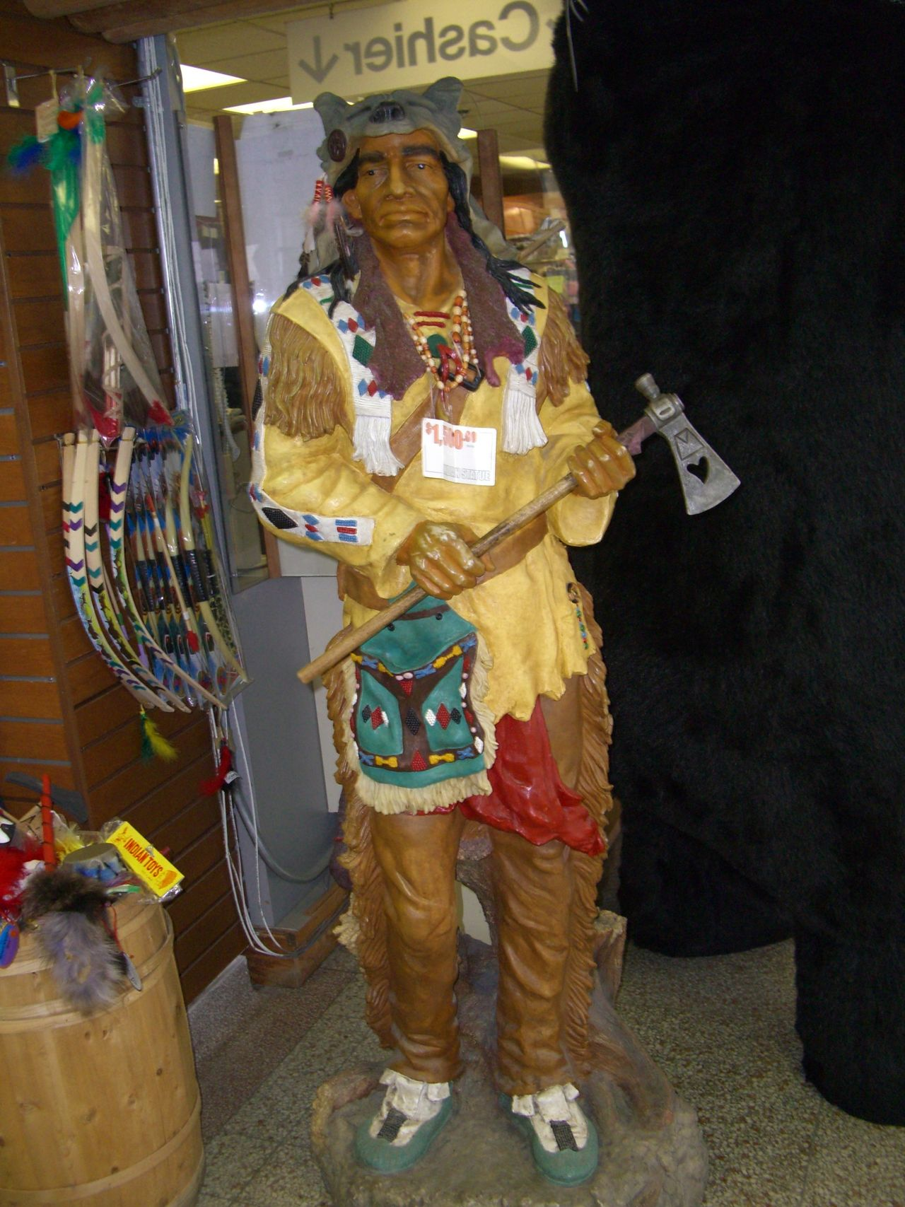 Canadian Indian Statue Canada Canadian Indian Composition Display Dummy Full Frame Human Representation Indoor Photography Lifestyles Market Stall Niagara Niagara Falls No People Retail  Shop Shop Dummy Small Business Statue Store Tourist Destination Traditional Clothes