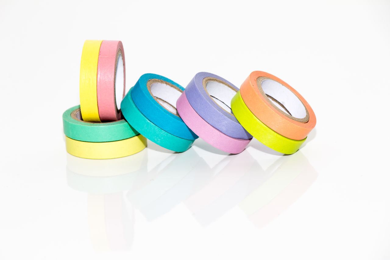 Colorful Adhesive Tapes On Table