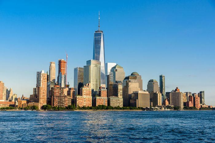 Cityscape Manhattan New York City Skyline TOWNSCAPE USA Urban Skyline Waterfront