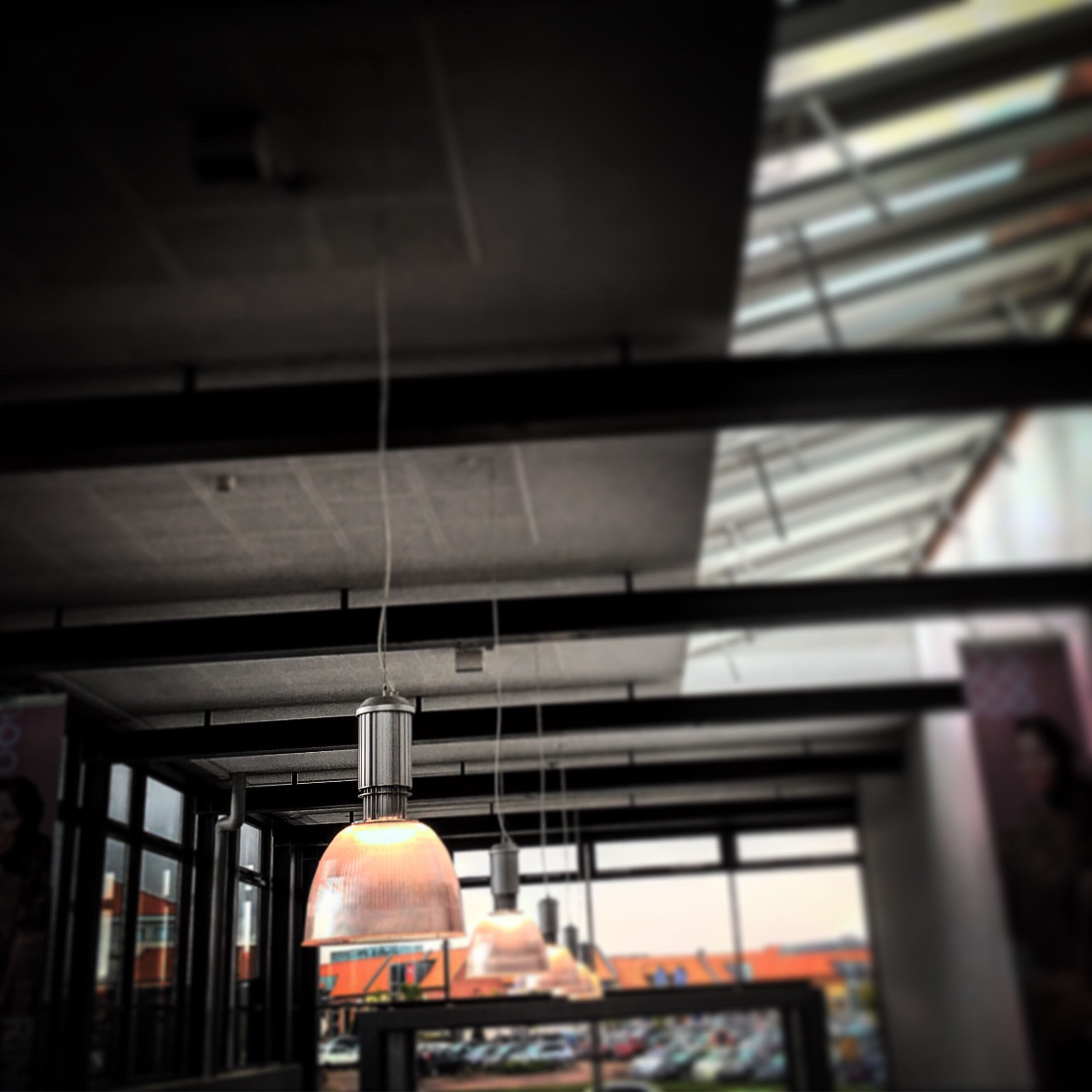 indoors, ceiling, low angle view, hanging, day, focus on foreground, interior, no people, journey
