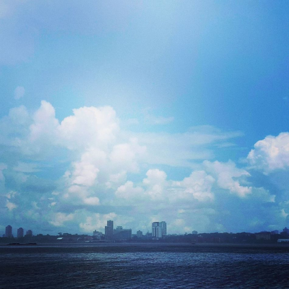 Singapore Sea And Sky Across The Water