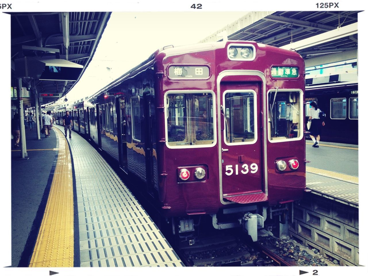 View Of Red Passenger Train