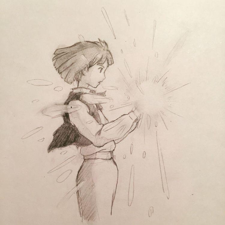 I drew this picture Drew Howlsmovingcastle Jiburi Japan Picture