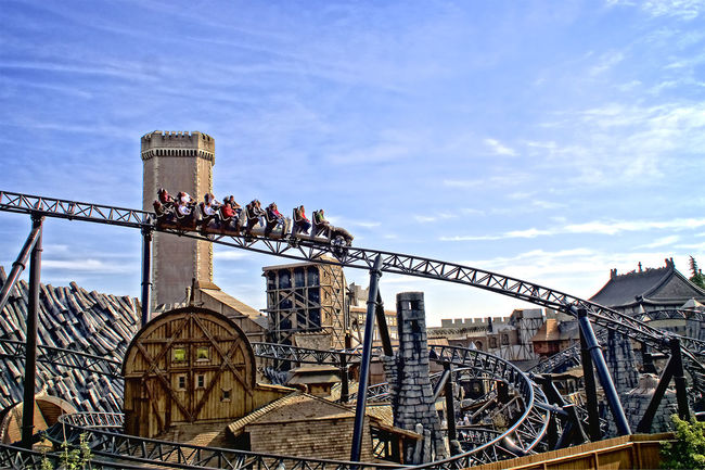 Amusementpark Architecture Bridge - Man Made Structure Built Structure HDR High Section Low Angle View Nature Outdoors Phantasialand Pretpark Sky