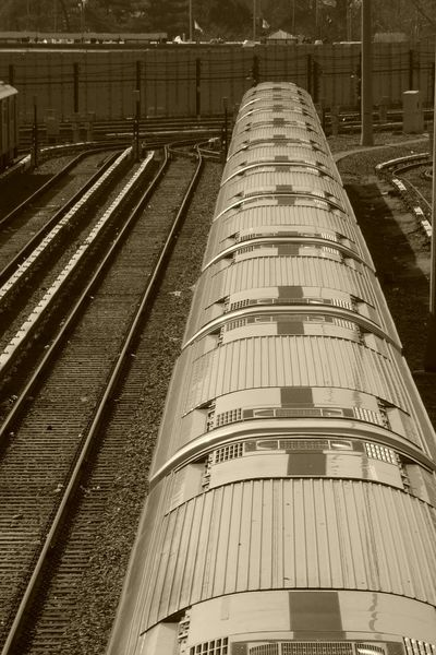 Trains and tracks. Masstransit Public Transportation Black And White Photography Sustainability Globalwarming Efficiency Train Traintracks Vanishing Point