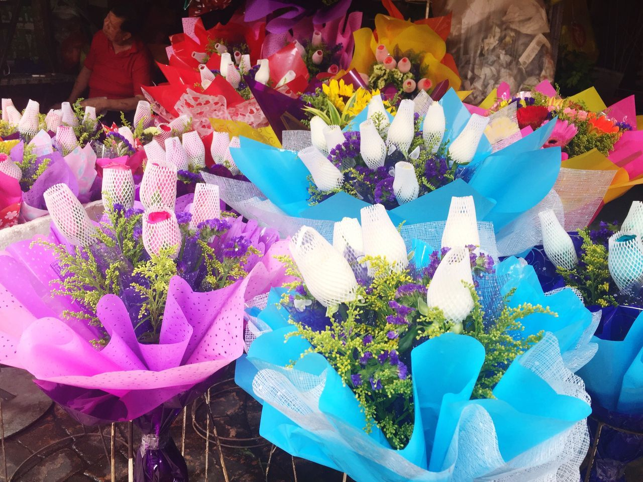 Flower Retail  Multi Colored Bouquet Market Flower Market Nature Flower Head Flower Shop Freshness Business Choice