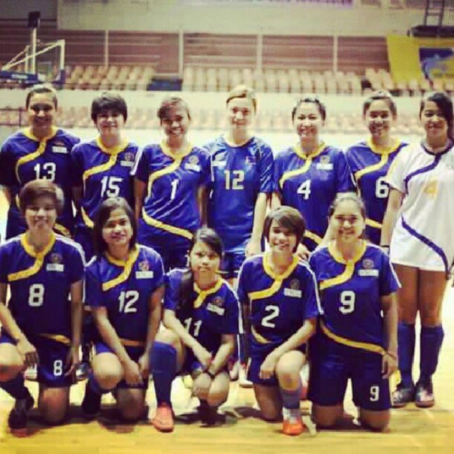 Miriam College futsal team 2012. Photo from PFL's facebook page. MiriamCollege Futsal