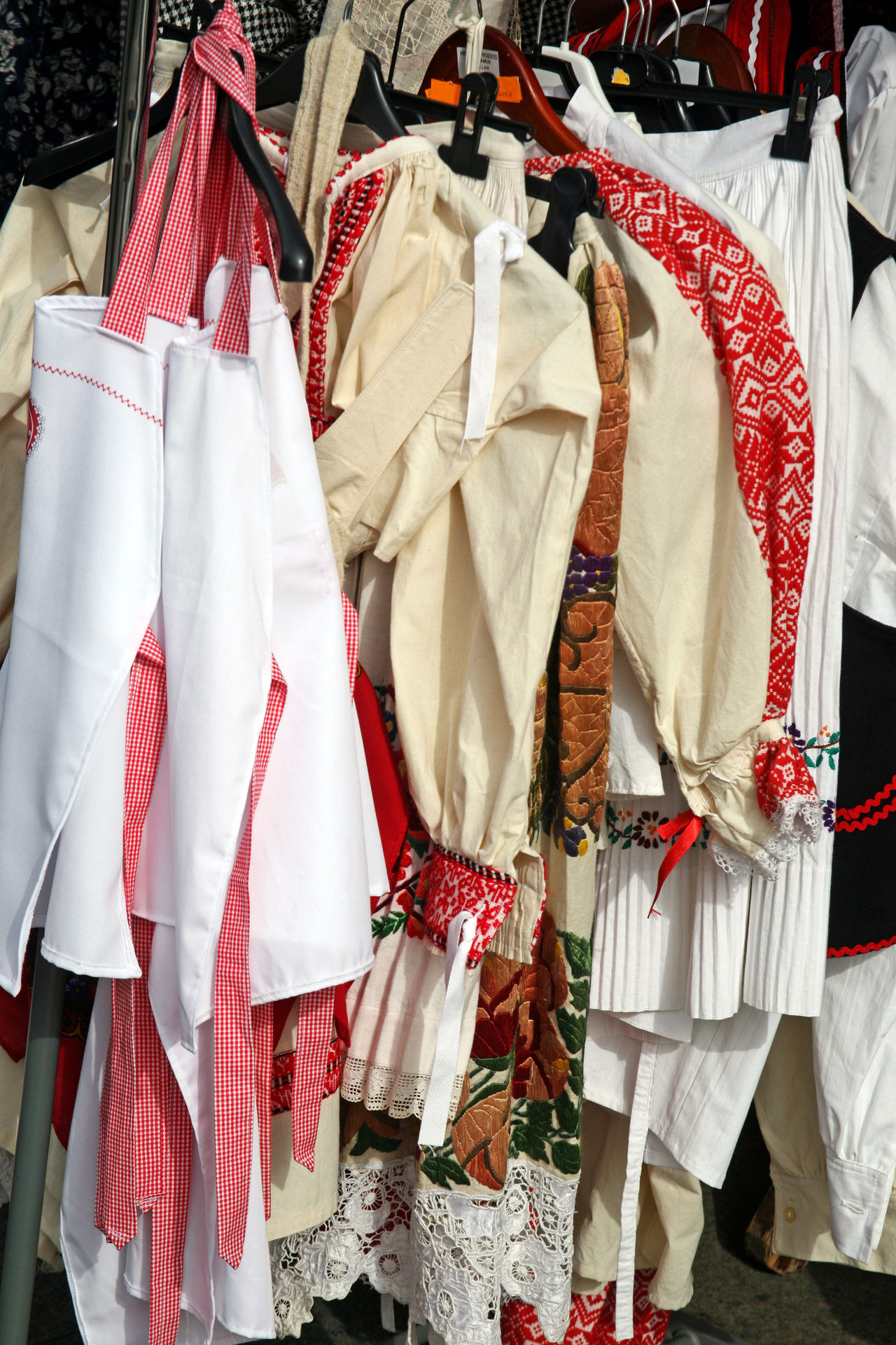 'Home-made is home-made',fair,9,traditional costumes,Zagreb 2016. 'home-made Is Home-made Choice Cloth Clothing Costumes Craftmanship Croatia Eu Fair Hand-made Hanging Outdoors Textile Tradition Traditional Costumes Variation Zagreb