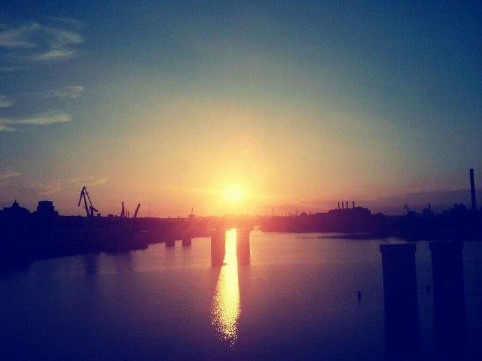 Bridge Water River Ukraine Sunset Beauty Beatyful Nature Nature Urban