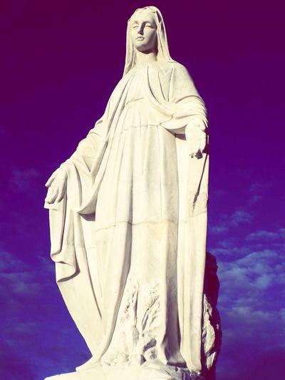 On the tallest place of the country theres the beautiful monument of the virgin of snow