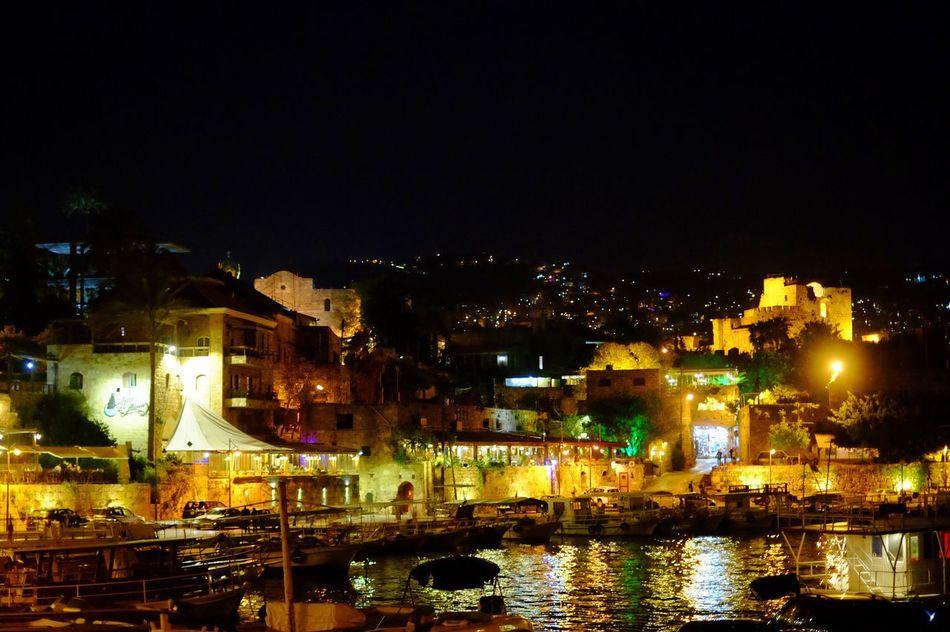 Night PhotographyyNight LightssSea PorttReflectionnArcheologyyCrusaderrCastleeMediterranean n