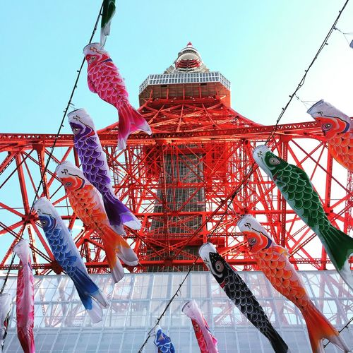 Low Angle View Built Structure Architecture Day No People Clear Sky Outdoors Sky Tokyo tower Tokyo Tower Tokyo,Japan Tokyotower