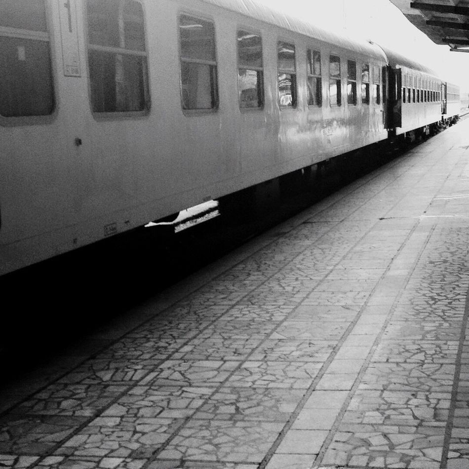 Trains Traveling New Place Going Somewhere Old Train Varna Bulgaria