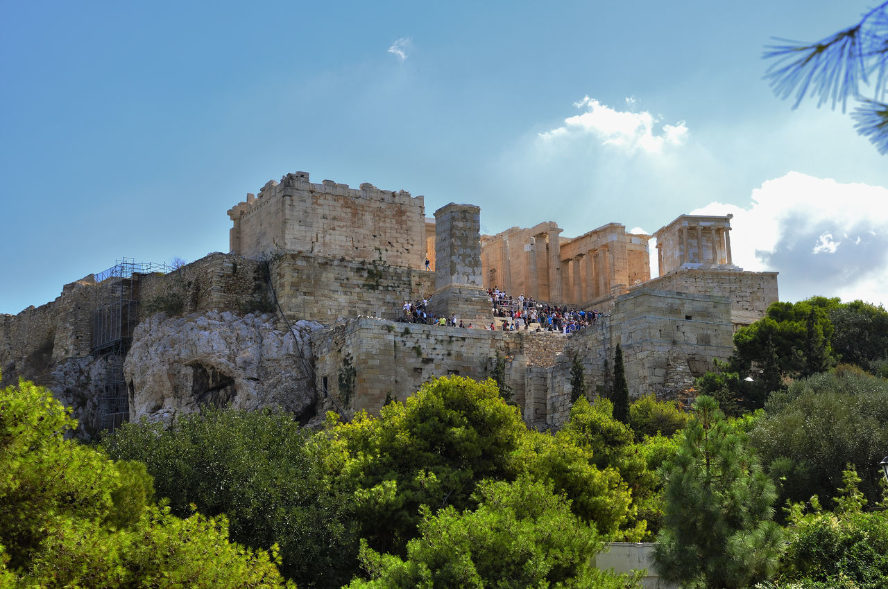 Acropolis in Athens, Greece Architecture Athens; Acropolis; Greece; Ancient; Greek; Old; Europe; Stone; Famous; Classical; Landmark; Panorama; Parthenon; Sky; Architecture; Tourism; History; Ruins; Marble; Civilization; Blue; Temple; Panoramic; Background; Travel; Culture; Monument; Ruin; Archeo History Outdoors Sky