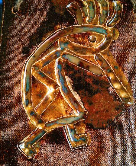 Ceramic Art Kokopelli Glazed Art Magic Flute The Dancer Spirit Guide Joy Handmade By Me Native American Indian