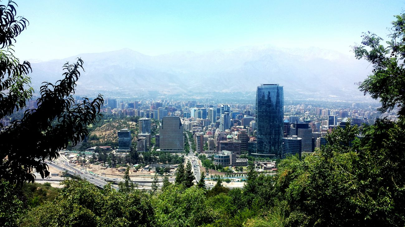 Santiago De Chile City Cityscape Skyscraper Tree No People Day Mountain Outdoors Sky Beauty In Nature Colors High Definition Freshness Summer Nature