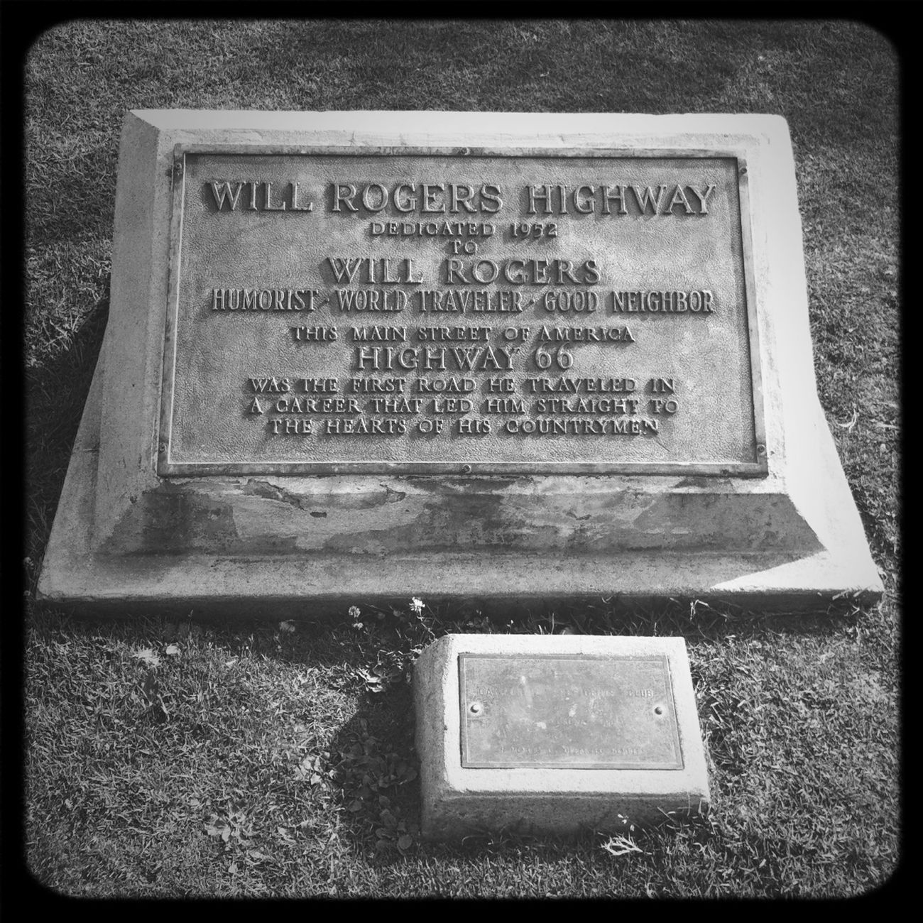 Will Rogers Memorial Plaque