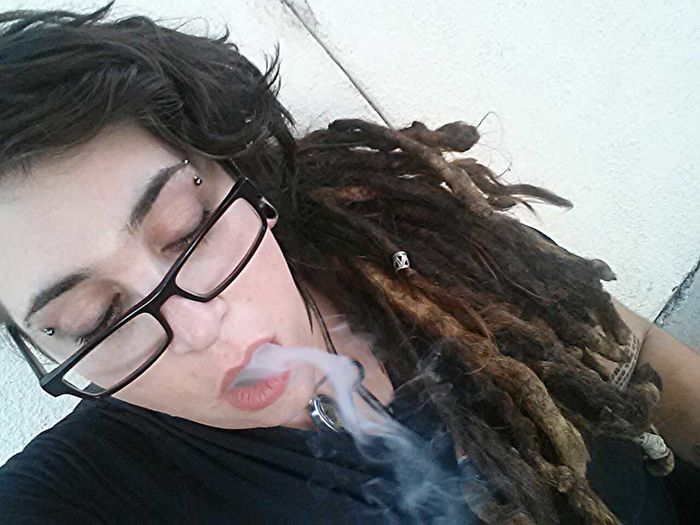 Lonely Stoner... Dreadlocks Smoking Weed Stoner Dreadhead