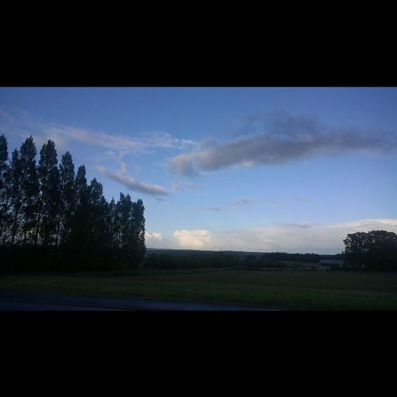A beautiful Evening Sky with some Clouds after the Rainbow Taupont Morbihan Miamorbihan Bretagne Breizh Jaimelabretagne Fansdebretagne Arcobaleno  Nature Natura Naturelovers Naturegram Nuages Clouds Instagram