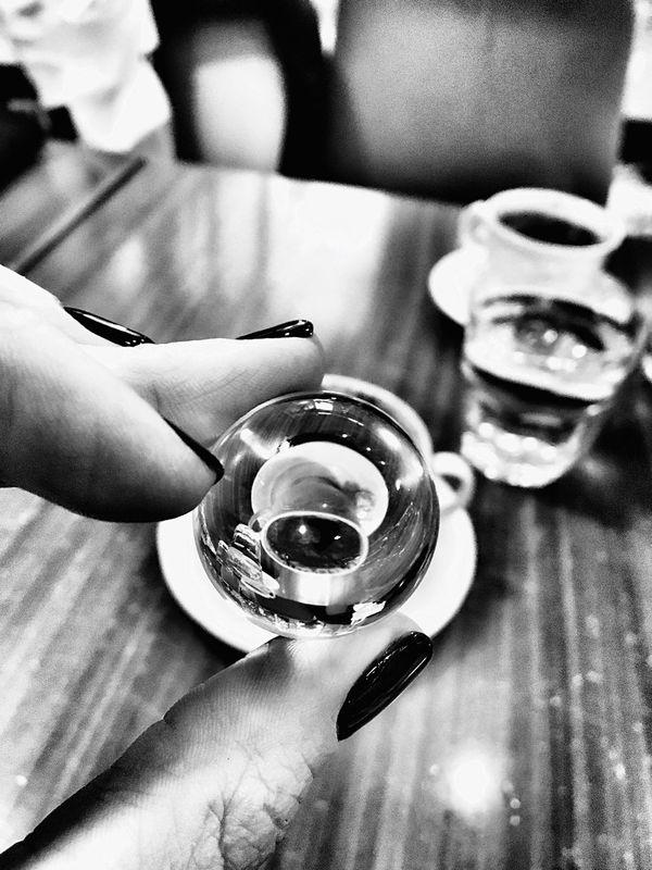Turkish Coffee Turkish Coffee ♥ Turkish Tradition Glass Bow Reflection Coffee Reflection Coffee Time Coffee ☕ Türk Kahvesi Istanbul Istanbul Turkey Coffee Art Coffee Culture Reflection Photography