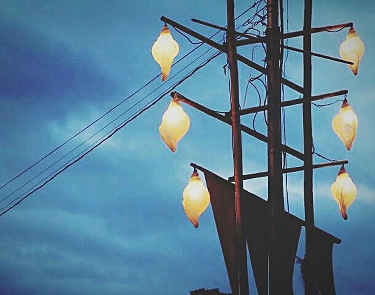 Dusk and light Blue Lantern Outdoors Sky Dusk Sky Dusk In The City Dramatic Sky Hanging Dusk