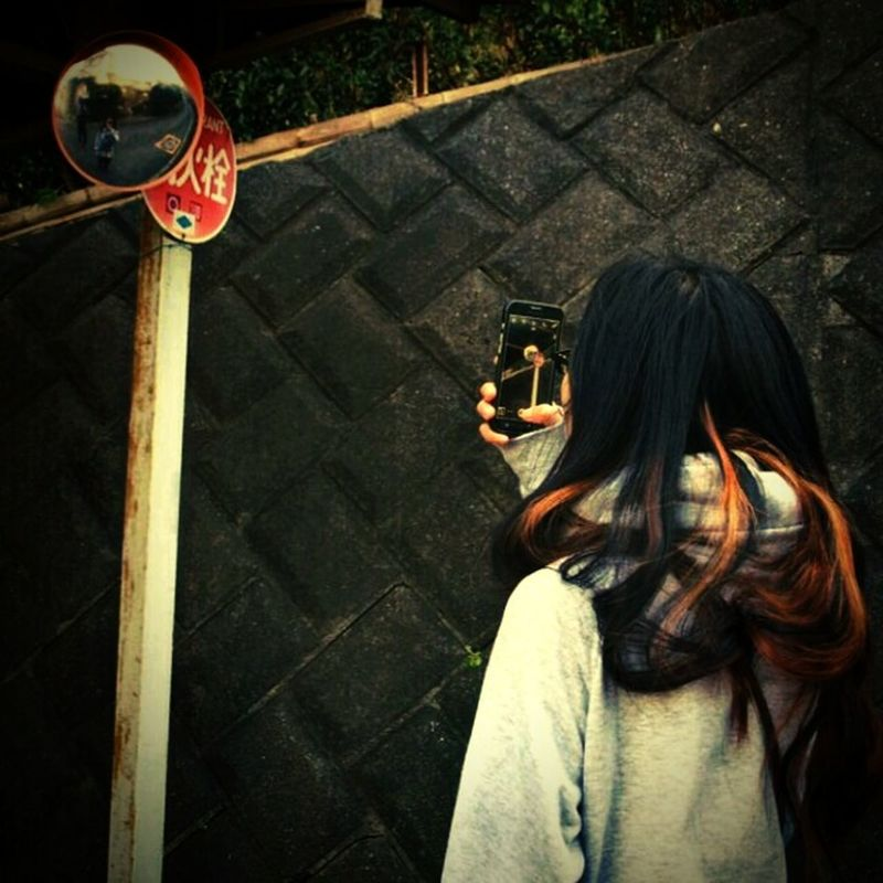That's Me Taking Photos On The Road Mobilephotography Enjoying Life Curvedmirror Mirrorselfie Coregraphy