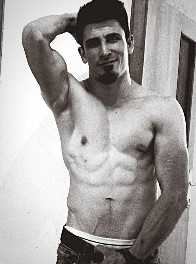Body & Fitness Fitness Gym Blackandwhite Abs Model