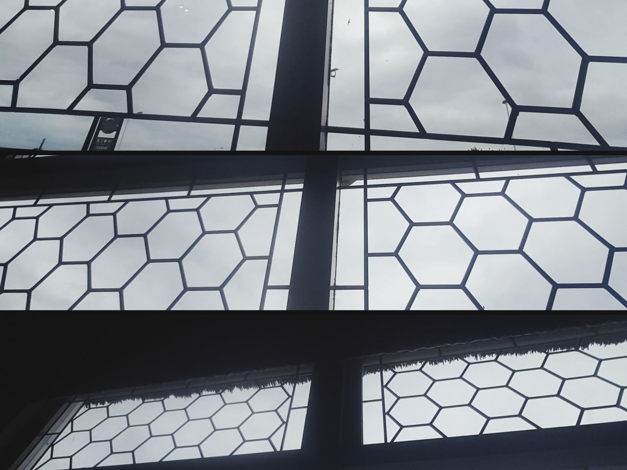 Windows Pattern Hexagon Hexagons Hexagonstyle Shapes Shapes And Forms No People Shapes Re-shaped